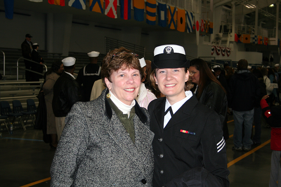 Erica Anderson and her mom after boot camp graduation