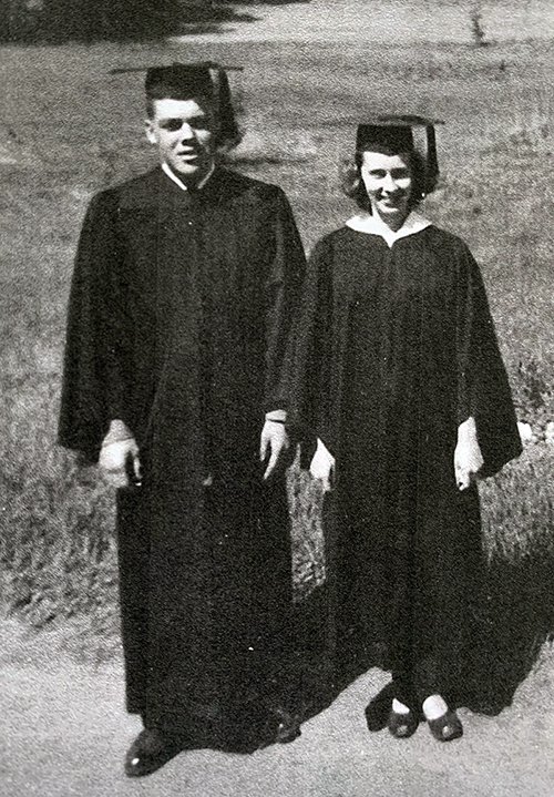 Don and Donna Landsverk, who were married a few months earlier, were proud UW-Stout graduates in the spring of 1952.