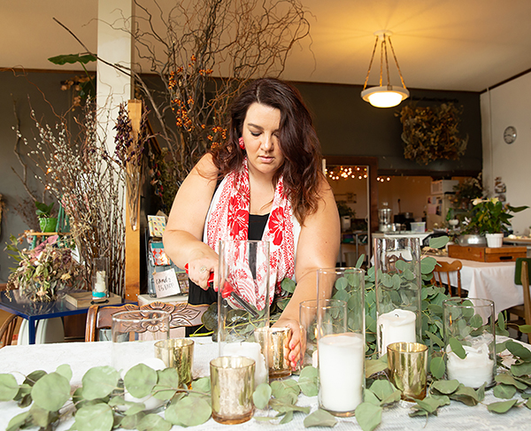 Jennifer Rentmeester owns a floral studio in downtown Menomonie.