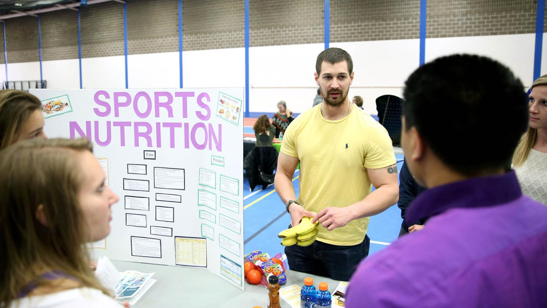 Student presenting sports nutrition