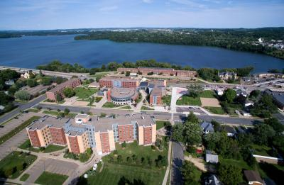 Aerial photos of campus are taken with a drone, or unmanned aerial vehicle (UAV), by Swift Aero Thursday, August 25, 2016.